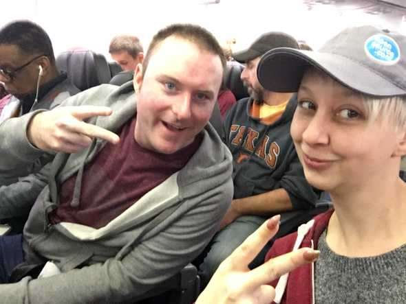 Jennifer & Mat on the way to Codemash - first conf of 2019!